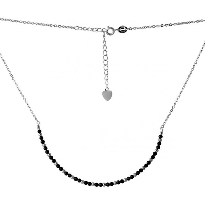 Серебряное колье SilverBreeze с натуральным шпинелью (2069362) 400450 размер