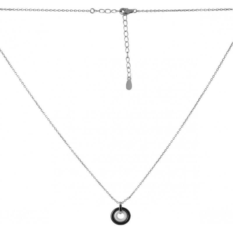 Серебряное колье SilverBreeze с керамикой (2068914) 400450 размер