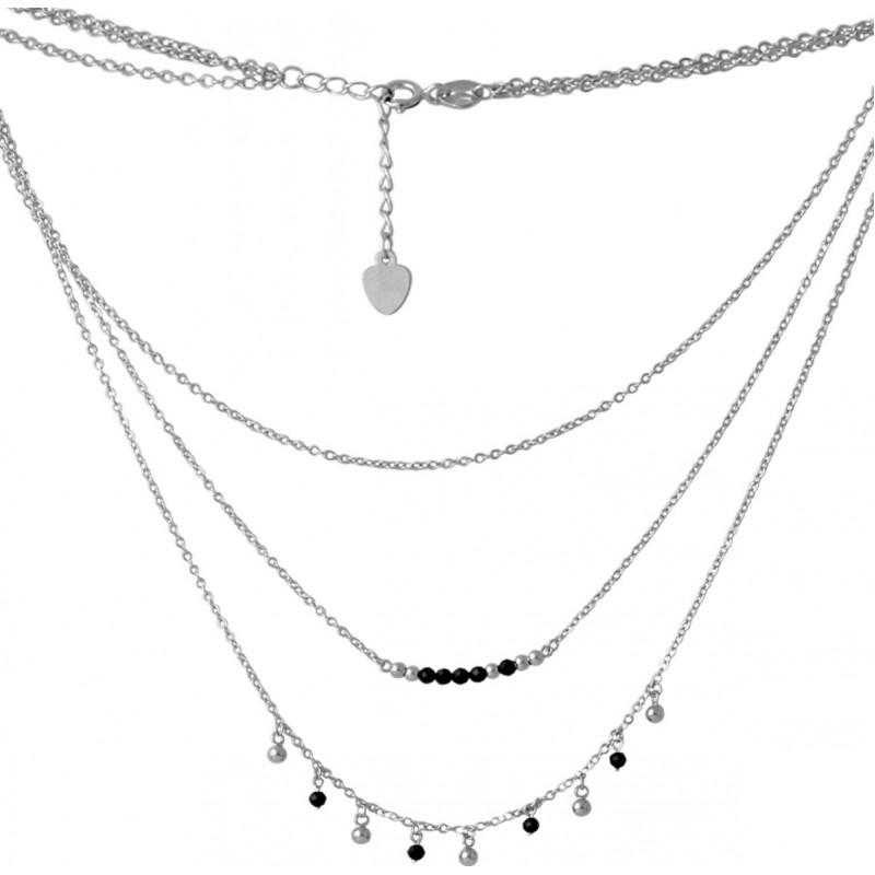 Серебряное колье SilverBreeze с натуральным шпинелью (2068365) 400450 размер