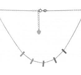 Серебряное колье SilverBreeze без камней (2068341) 400450 размер