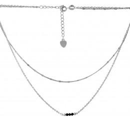 Серебряное колье SilverBreeze с натуральным шпинелью (2068334) 400450 размер