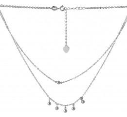 Серебряное колье SilverBreeze без камней (2068327) 400450 размер
