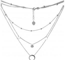 Серебряное колье SilverBreeze без камней (2068310) 400450 размер