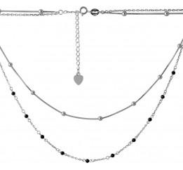 Серебряное колье SilverBreeze с натуральным шпинелью (2068303) 400450 размер