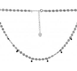 Серебряное колье SilverBreeze с натуральным шпинелью (2068297) 400450 размер