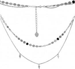 Серебряное колье SilverBreeze без камней (2068280) 400450 размер