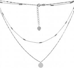 Серебряное колье SilverBreeze без камней (2068273) 400450 размер