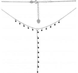 Серебряное колье SilverBreeze с натуральным шпинелью (2068266) 400450 размер