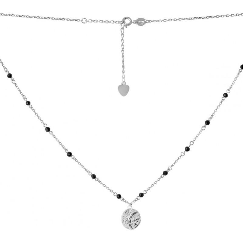 Серебряное колье SilverBreeze с натуральным шпинелью (2068150) 400450 размер