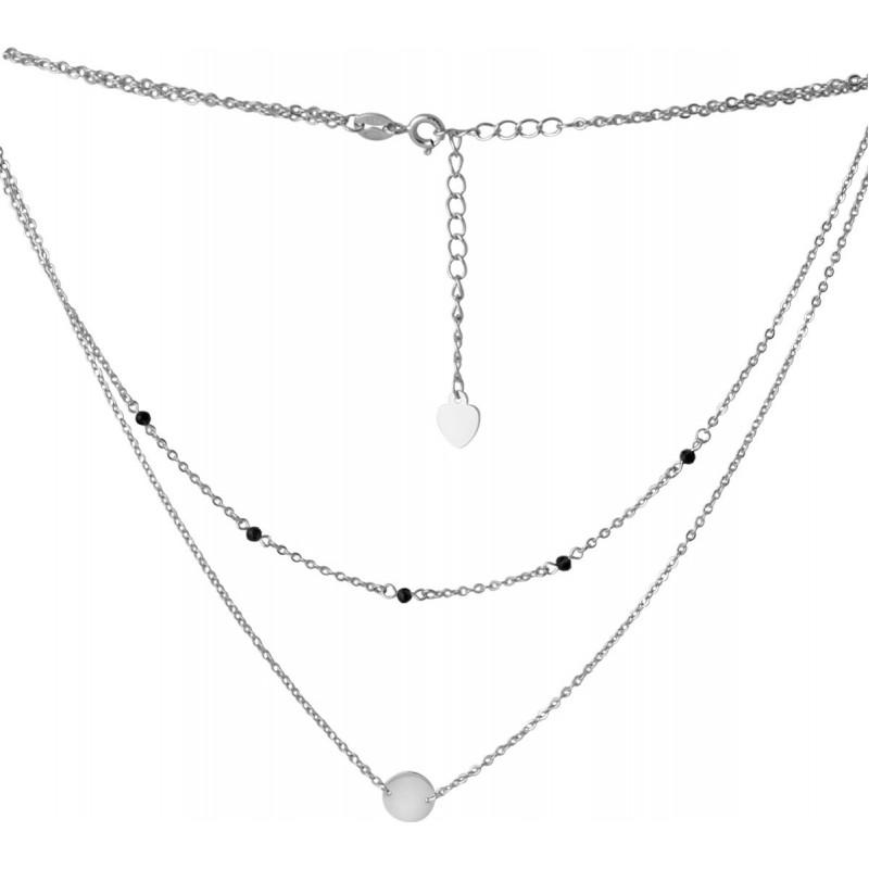 Серебряное колье SilverBreeze с натуральным шпинелью (2068129) 400450 размер