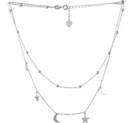 Серебряное колье SilverBreeze без камней (2066798) 4204500 размер