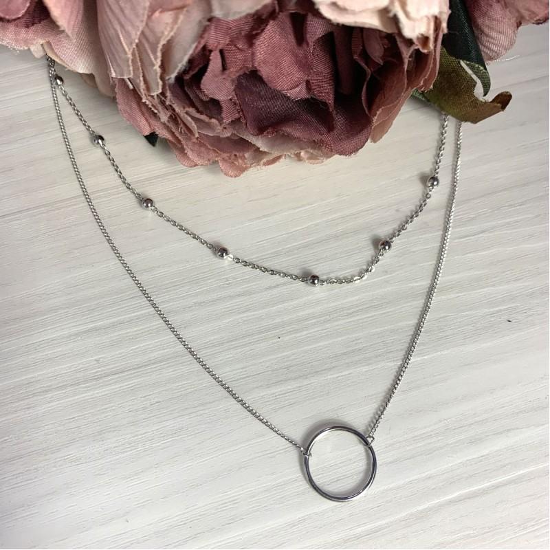 Серебряное колье SilverBreeze без камней (2066774) 450500 размер
