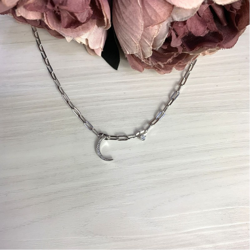Серебряное колье SilverBreeze с фианитами (2066743) 450500 размер