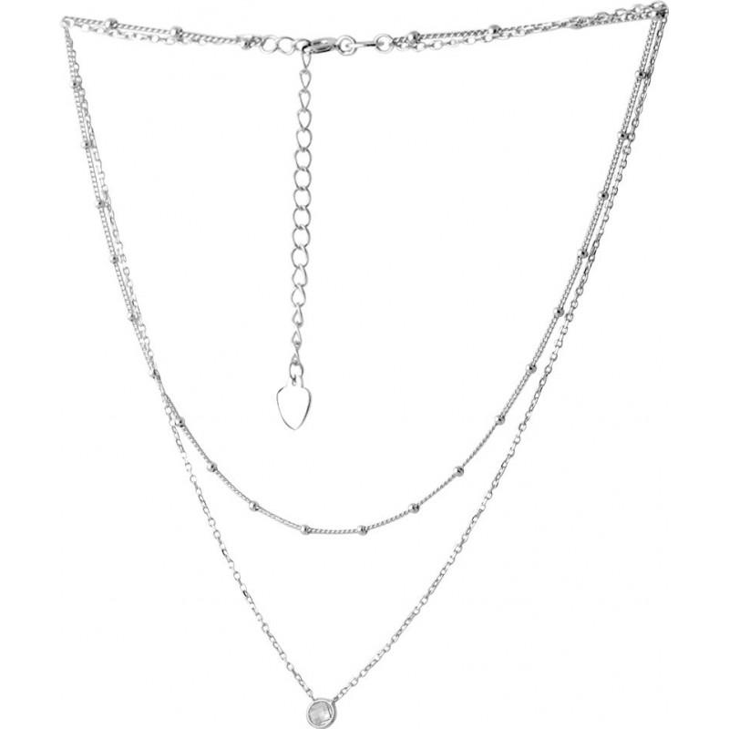 Серебряное колье SilverBreeze с фианитами (2066675) 450500 размер