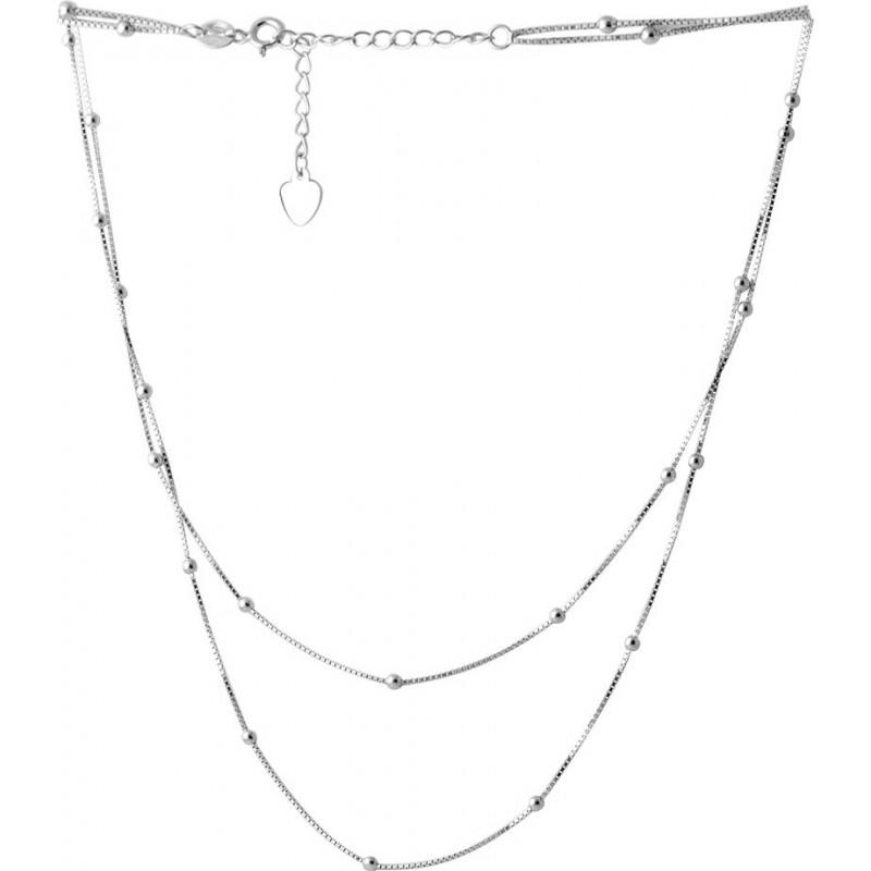 Серебряное колье SilverBreeze без камней (2066644) 450500 размер