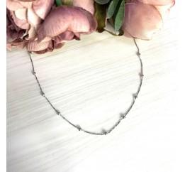 Серебряное колье SilverBreeze без камней (2066637) 450500 размер