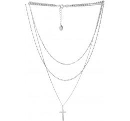 Серебряное колье SilverBreeze без камней (2053064) 400430 размер