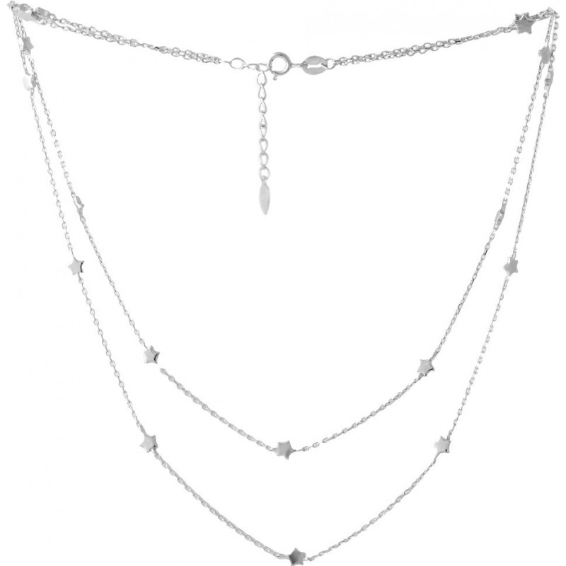 Серебряное колье SilverBreeze без камней (2053057) 450500 размер