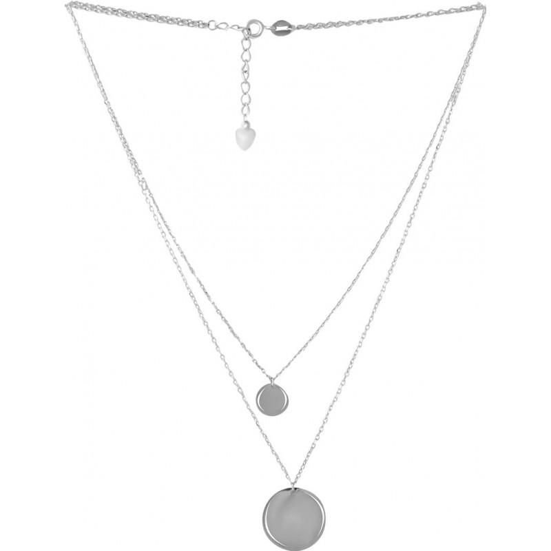 Серебряное колье SilverBreeze без камней (2053026) 4204500 размер
