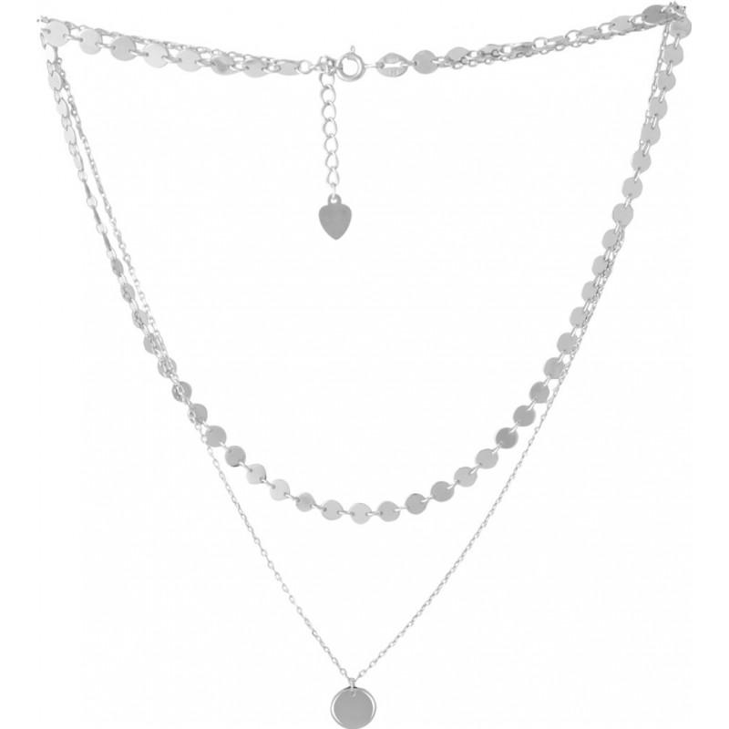Серебряное колье SilverBreeze без камней (2052975) 450500 размер