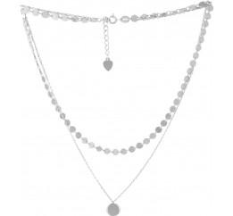 Серебряное колье SilverBreeze без камней (2052975) 400430 размер