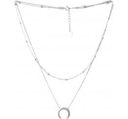 Серебряное колье SilverBreeze без камней (2052937) 450500 размер