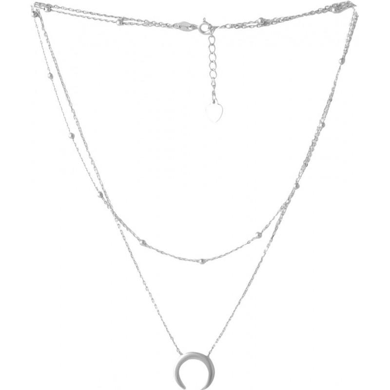 Серебряное колье SilverBreeze без камней (2052937) 400430 размер