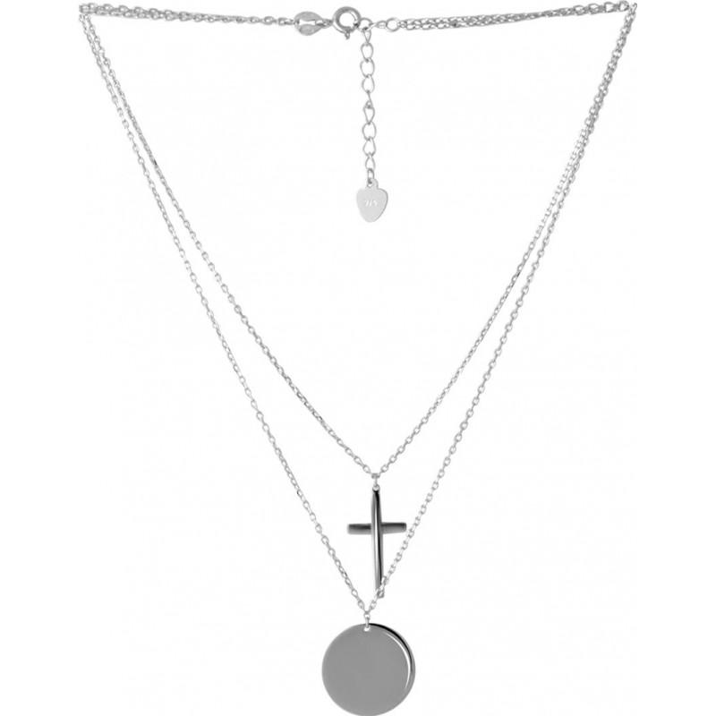 Серебряное колье SilverBreeze без камней (2052913) 450500 размер
