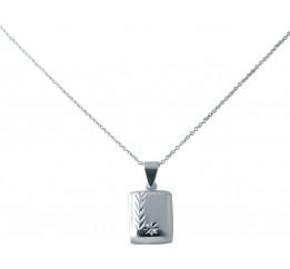 Серебряное колье SilverBreeze без камней (2038535) 400450 размер