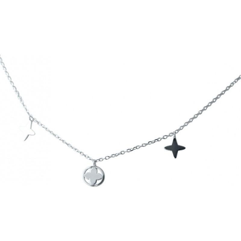 Серебряное колье SilverBreeze без камней (2038436) 400430 размер