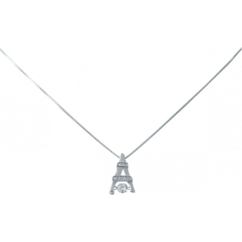 Серебряное колье SilverBreeze с фианитами (2038429) 400450 размер