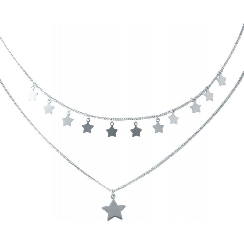 Серебряное колье SilverBreeze без камней (2037187) 400430 размер