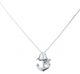 Серебряное колье SilverBreeze без камней (2031208) 450500 размер