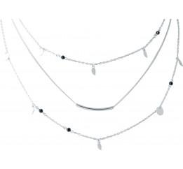 Серебряное колье SilverBreeze с фианитами (2022237) 400430 размер