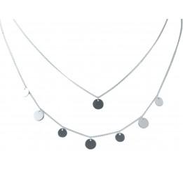 Серебряное колье SilverBreeze без камней (2022183) 400450 размер