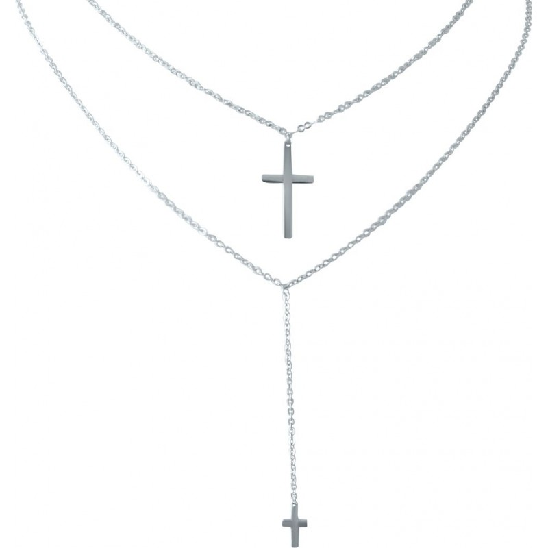 Серебряное колье SilverBreeze без камней (2022138) 400430 размер