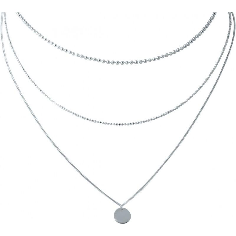 Серебряное колье SilverBreeze без камней (2022121) 400450 размер