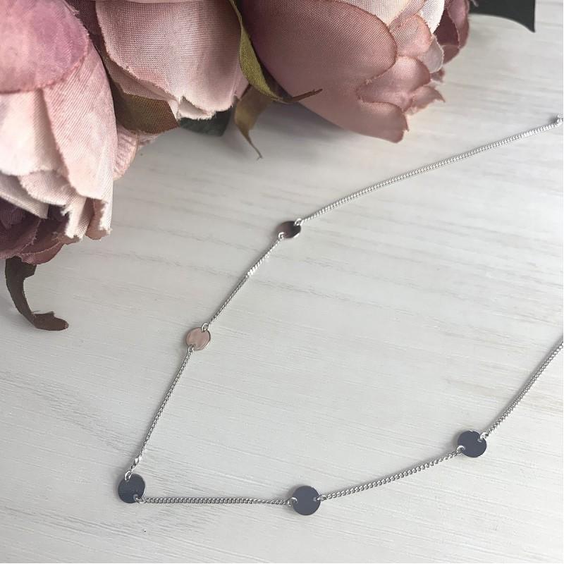 Серебряное колье SilverBreeze без камней (2016502) 450500 размер