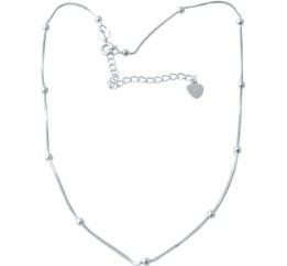 Серебряное колье SilverBreeze без камней (2016472) 400450 размер
