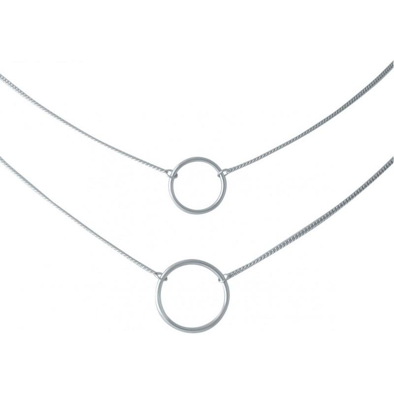 Серебряное колье SilverBreeze без камней (2014331) 440480 размер