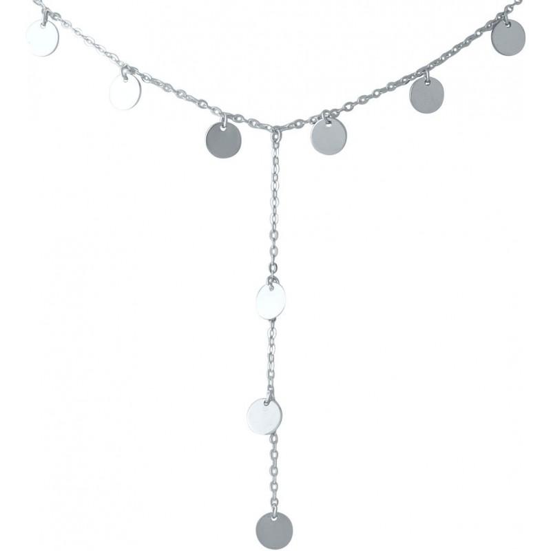 Серебряное колье SilverBreeze без камней (2014300) 440480 размер