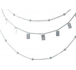Серебряное колье SilverBreeze без камней (2014270) 450480 размер