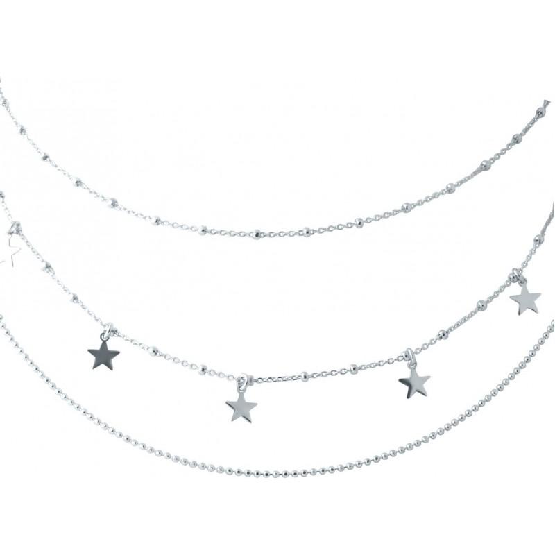 Серебряное колье SilverBreeze без камней (2006060) 450500 размер