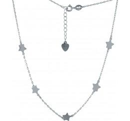 Серебряное колье SilverBreeze без камней (2005773) 400450 размер