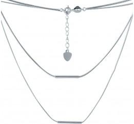 Серебряное колье SilverBreeze без камней (2005667) 440480 размер