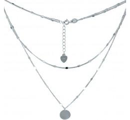Серебряное колье SilverBreeze без камней (2005605) 400430 размер