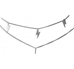 Серебряное колье SilverBreeze без камней (1993774) 400450 размер
