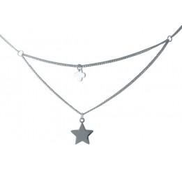 Серебряное колье SilverBreeze без камней (1993705) 400450 размер