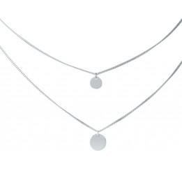 Серебряное колье SilverBreeze без камней (1983171) 450480 размер