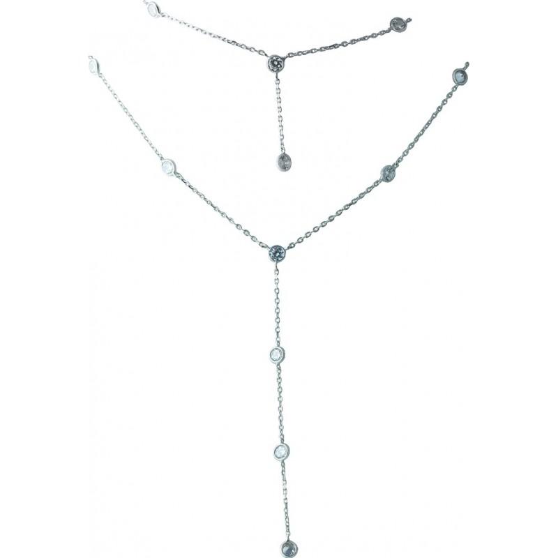 Серебряное колье SilverBreeze с фианитами (1983072) 400430 размер
